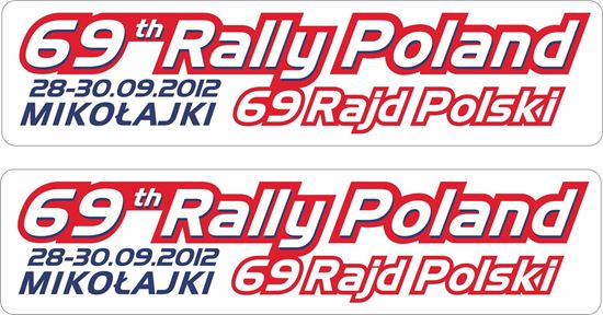 Picture of 69th Rajd Polski Rally Decals / Stickers