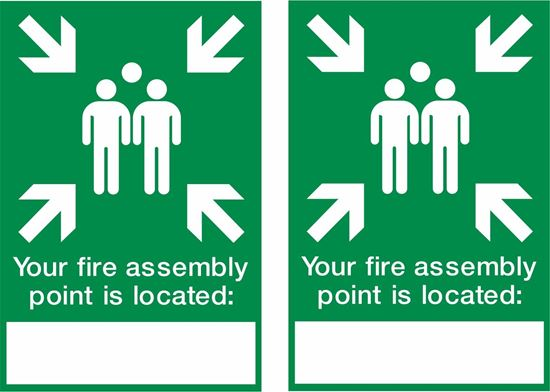 Picture of Fire assembly point location Decals / Stickers