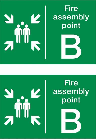 Picture of Fire assembly point B Decals / Stickers
