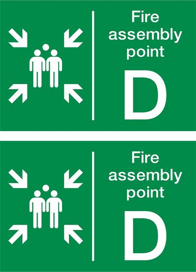 Picture of Fire assembly point D Decals / Stickers
