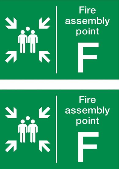 Picture of Fire assembly point F Decals / Stickers