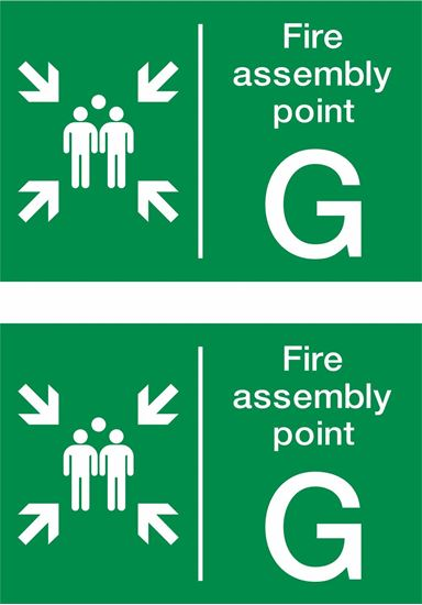 Picture of Fire assembly point G Decals / Stickers