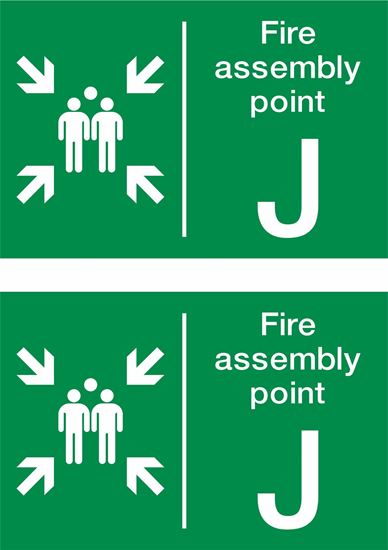 Picture of Fire assembly point J Decals / Stickers