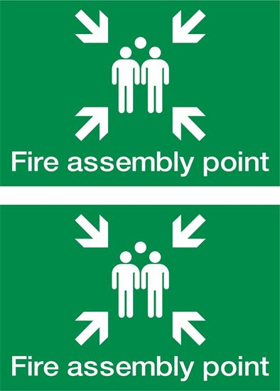 Picture of Fire assembly point Decals / Stickers