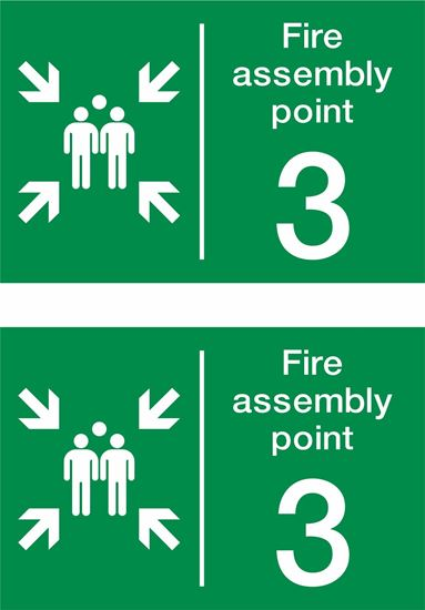 Picture of Fire assembly point 3 Decals / Stickers