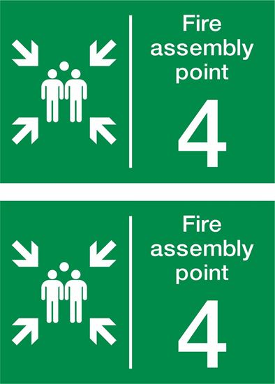 Picture of Fire assembly point 4 Decals / Stickers