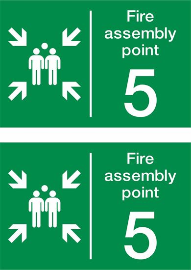 Picture of Fire assembly point 5 Decals / Stickers