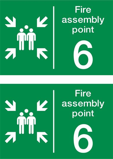 Picture of Fire assembly point 6 Decals / Stickers