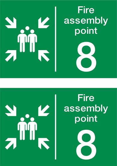 Picture of Fire assembly point 8 Decals / Stickers