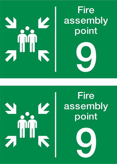 Picture of Fire assembly point 9 Decals / Stickers