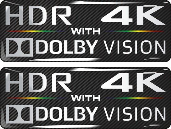 Picture of HDR 4K with Dolby Vision Gel Badges