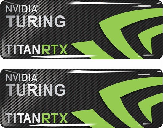 Picture of Nvidia Turning Titan RTX Gel Badges