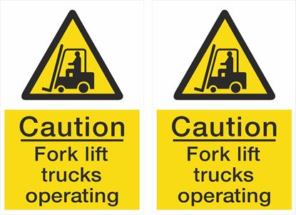 Picture of Caution Fork lift trucks operating Decals / Stickers