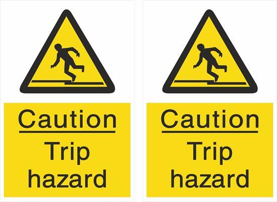 Picture of Caution Trip hazard Decals / Stickers