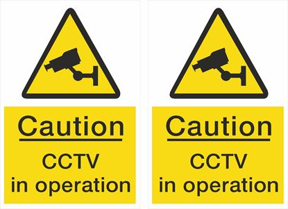 Picture of Caution CCTV in operation Decals / Stickers