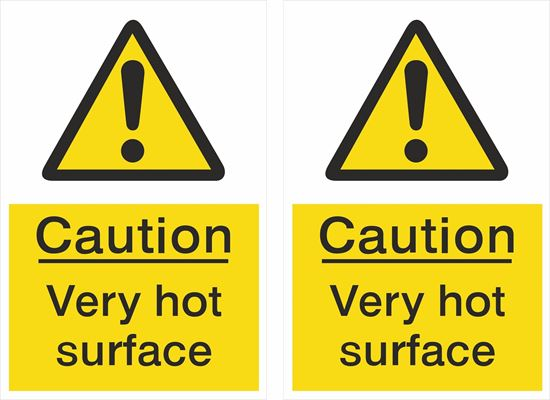 Picture of Caution Very hot surface Decals / Stickers