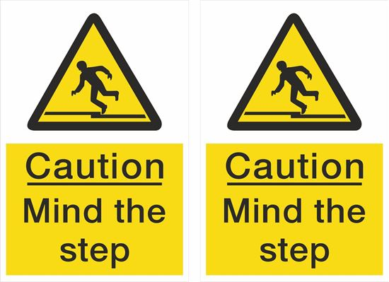 Picture of Caution Mind the step Decals / Stickers