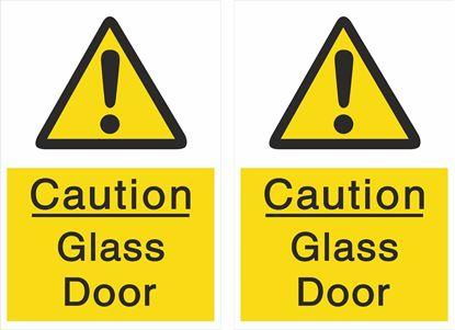 Picture of Caution Glass Door Decals / Stickers