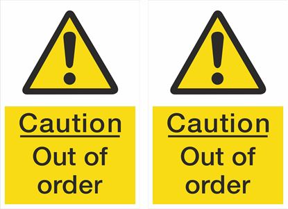 Picture of Caution out of order Decals / Stickers