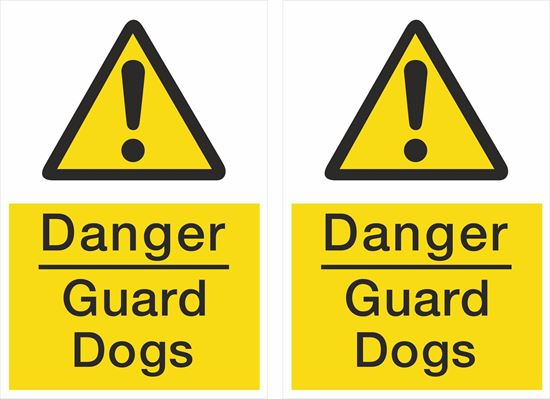 Picture of Danger Guard Dogs Decals / Stickers