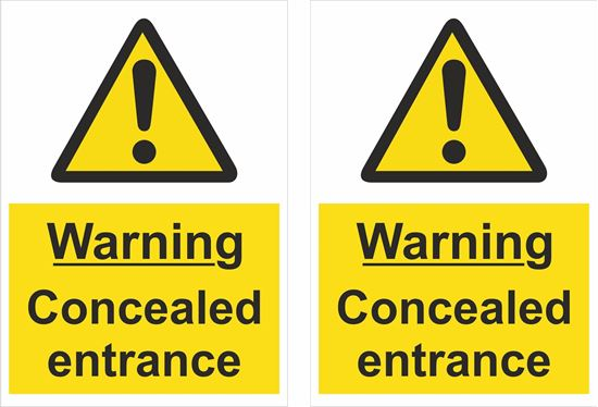 Picture of Warning Concealed entrance Decals / Stickers