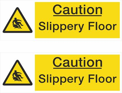 Picture of Caution Slippery Floor Decals / Stickers