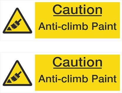 Picture of Caution Anti-climb Paint Decals / Stickers
