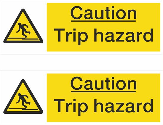 Picture of Caution Trip hazard Decals / Stickers