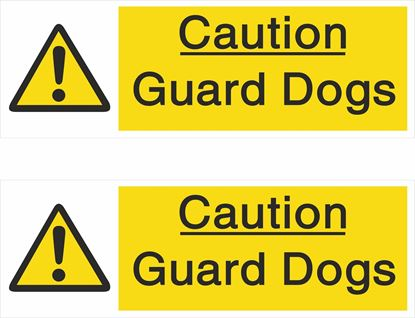 Picture of Caution Guard Dogs Decals / Stickers