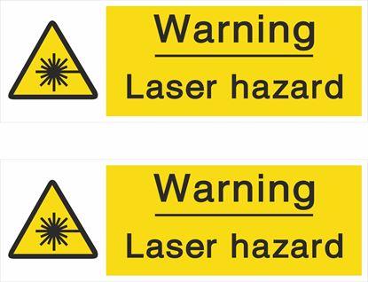 Picture of Caution Laser hazard Decals / Stickers