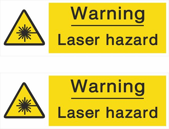 Picture of Caution Laser hazard Decals / Stickers