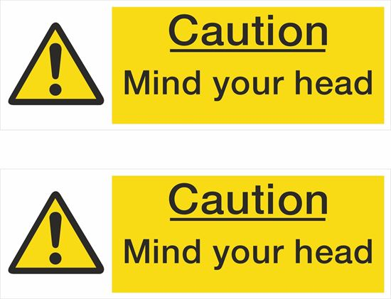 Picture of Caution Mind your head Decals / Stickers