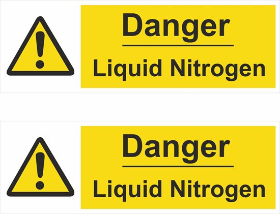 Picture of Danger Liquid Nitrogen Decals / Stickers