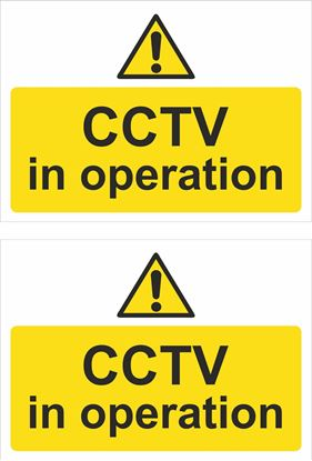 Picture of CCTV in operation Decals / Stickers