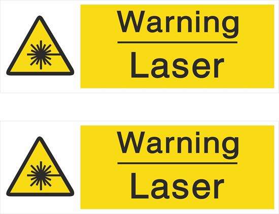 Picture of Warning Laser Decals / Stickers