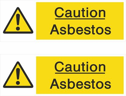 Picture of Caution Asbestos Decals / Stickers