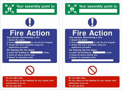 Picture of Fire action / assembly point Decals / Stickers