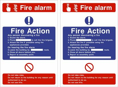 Picture of Fire action / alarm Decals / Stickers