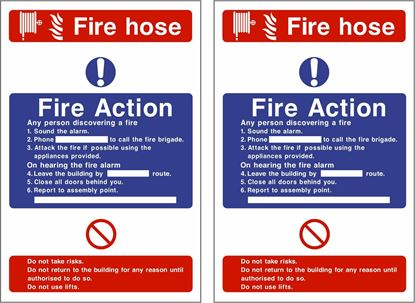 Picture of Fire action / Fire hose Decals / Stickers