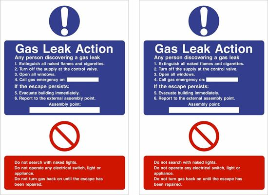 Picture of Gas Leak Action Decals / Stickers