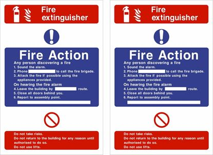 Picture of Fire action / Fire extinguisher Decals / Stickers