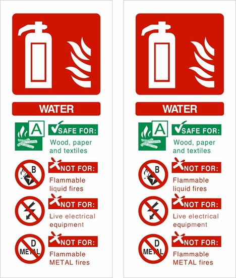 Picture of Fire extinguisher Water Decals / Stickers