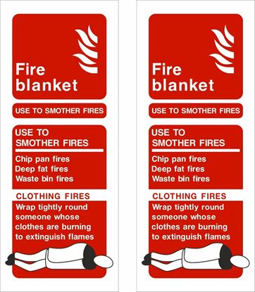 Picture of Fire blanket guide Decals / Stickers