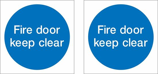 Picture of Fire door keep clear Decals / Stickers