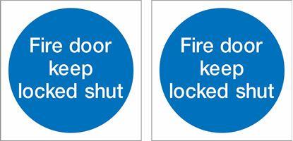Picture of Fire door keep locked shut Decals / Stickers