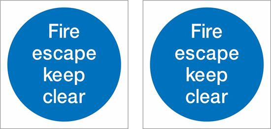 Picture of Fire escape keep clear Decals / Stickers