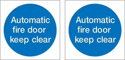 Picture of Automatic fire door keep clear Decals / Stickers