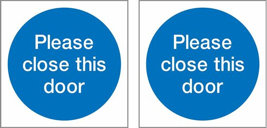 Picture of Please close this door Decals / Stickers