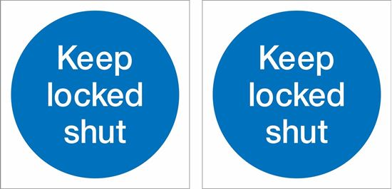 Picture of Keep locked shut Decals / Stickers