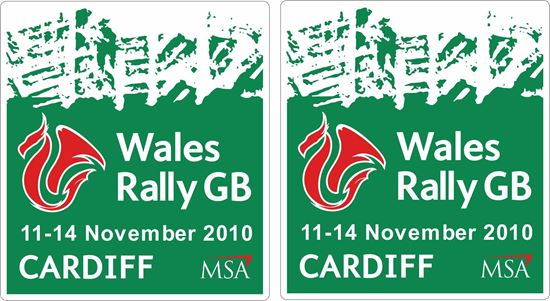 Picture of Wales Rally GB 2010 Decals / Stickers